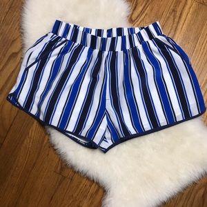 PJK Patterson J Kincaide Stripe Silk Shorts Small